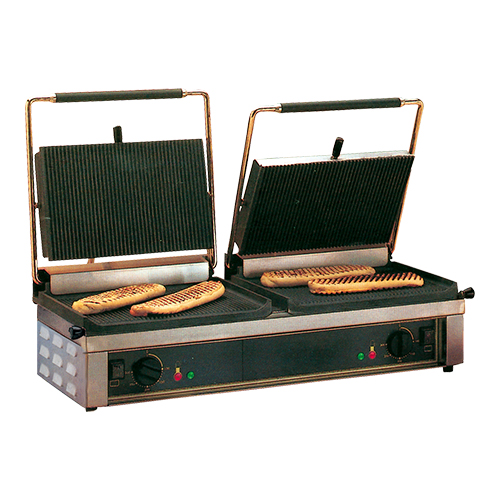"Roller Grill Contact Grill ""Double Panini"" gegroefd"