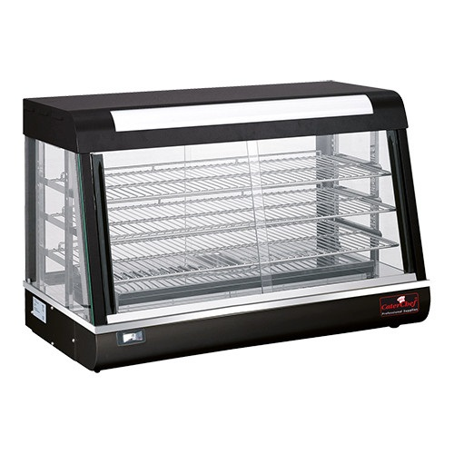 CaterChef Warmhoudvitrine zwart