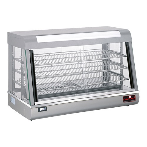 CaterChef Warmhoudvitrine zilver