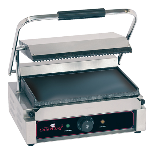 "CaterChef Contact Grill ""Solo Grande"" gegroefd/glad"