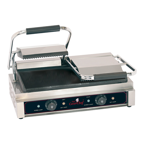 "CaterChef Contact Grill ""Duetto Compact"" gegroefd/glad"
