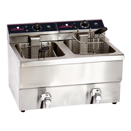 CaterChef Friteuse 8+8 liter extra