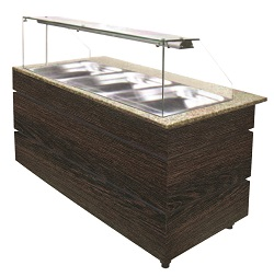 Combisteel Warm Buffet wenge 4x GN 1/1