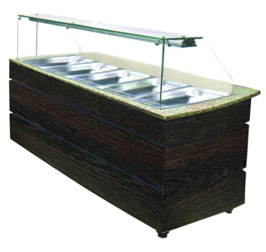 Combisteel Warm Buffet wenge 5x GN 1/1