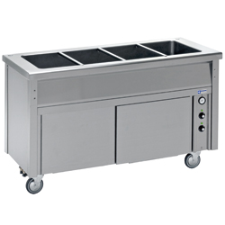 Diamond Bain-marie element op neutraal kast 2 GN - self 700