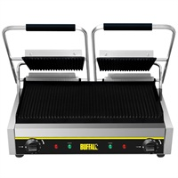 Buffalo budget contact grill dubbel gegroefd