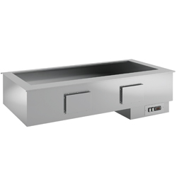 "Diamond geventileerde ""droge"" Bain-marie element 4 GN - self drop in Armonia"