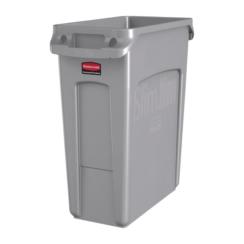 Rubbermaid Slim Jim Container 60 liter grijs