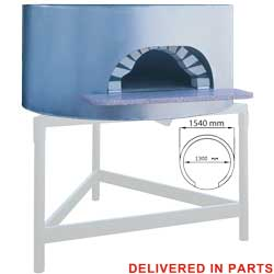 Diamond traditionele Pizza Oven op hout Ø 130 cm - Napoli Line