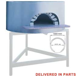 Diamond traditionele Pizza Oven op hout Ø 145 cm - Napoli Line