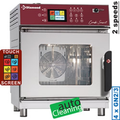 Diamond Elektrische Stoom Convectie Oven 4x GN 2/3 met Touch Screen en Auto Cleaning - Smart Line