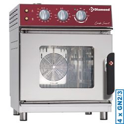 Diamond Elektrische Stoom Convectie Oven 4x GN 2/3 mechanisch - Smart Line