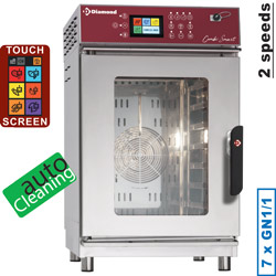 Diamond Elektrische Stoom Convectie Oven 7x GN 1/1 met Touch Screen en Auto Cleaning - Smart Line