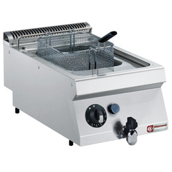 "Diamond Friteuse op gas met kuip in ""Y"" 7 liter buitenkant branders - Top Medium 1700 serie"