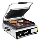 Buffalo jumbo contact grill gegroefd/glad