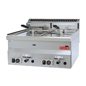 Gastro M 600 Friteuse op gas 2x 8 liter