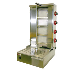 Diamond Gyros Grill op gas 55 kilo