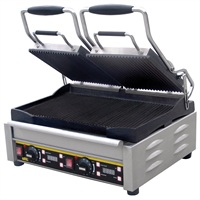 Buffalo contact grill dubbel gegroefd