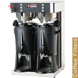 Diamond filter koffiemachine - 2 container-verdelers van 2x 2,5 liter - warmwaterkraan