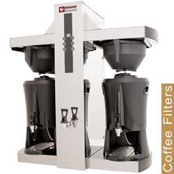 Diamond filter koffiemachine - 2 container-verdelers van 2x 5 liter - warmwaterkraan