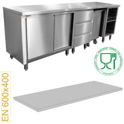 Diamond module voor patisserie top - RVS 15/10 - 2500 (b) mm