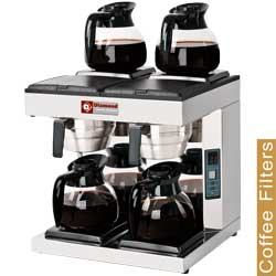Diamond filter koffiemachine - 2 groepen - 4 warmhoudplaten