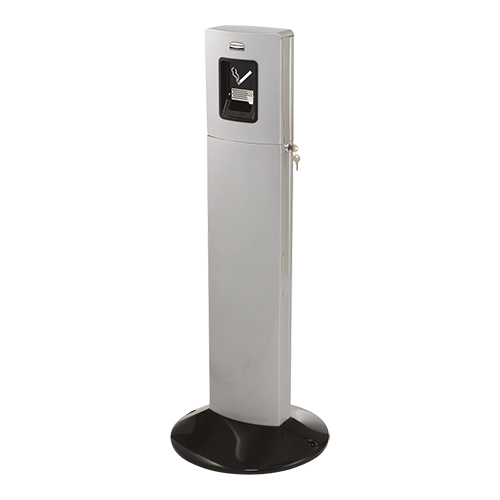 Rubbermaid Rokerszuil Ø 43 cm Metropolitan Smokers Station zilver