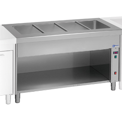 Diamond Bain-marie element op open kast 6 GN - self 800