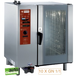 Diamond boiler Stoom Oven (gas) met automatic cleaning system 10x GN 1/1 - 8x 60 x 40 cm