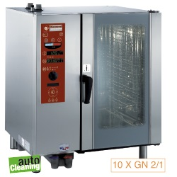 Diamond boiler Stoom Oven (gas) met automatic cleaning system 10x GN 2/1 - 8x 60 x 40 cm