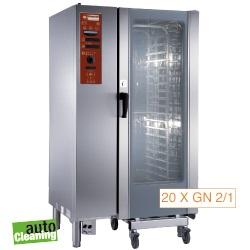 Diamond boiler Stoom Oven (gas) met automatic cleaning system 20x GN 2/1 - 36x 60 x 40 cm