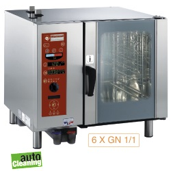 Diamond boiler Stoom Oven (gas) met automatic cleaning system 6x GN 1/1 - 5x 60 x 40 cm