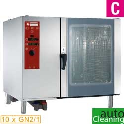 Diamond directe Stoom Oven (gas) met automatic cleaning system 10x GN 2/1 - 8x 60 x 40 cm
