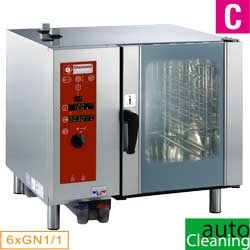 Diamond directe Stoom Oven (gas) met automatic cleaning system 6x GN 1/1 - 5x 60 x 40 cm
